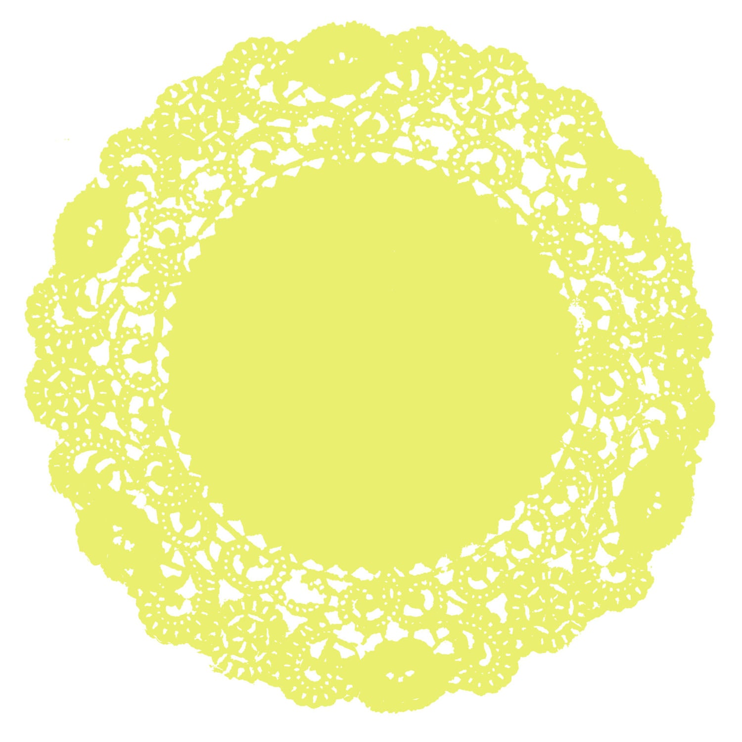 Lemon Yellow Doily