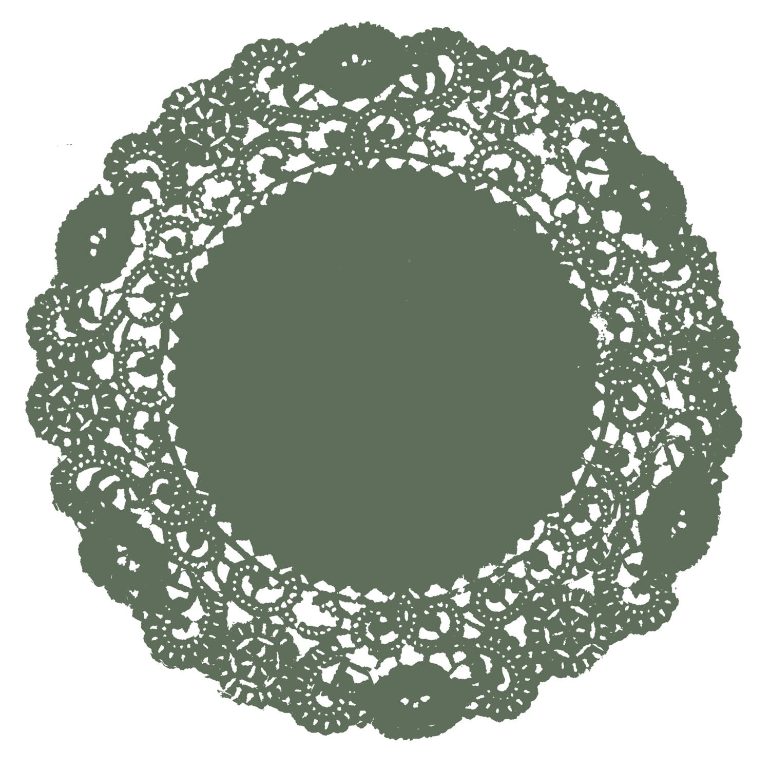 Olive Green Doily