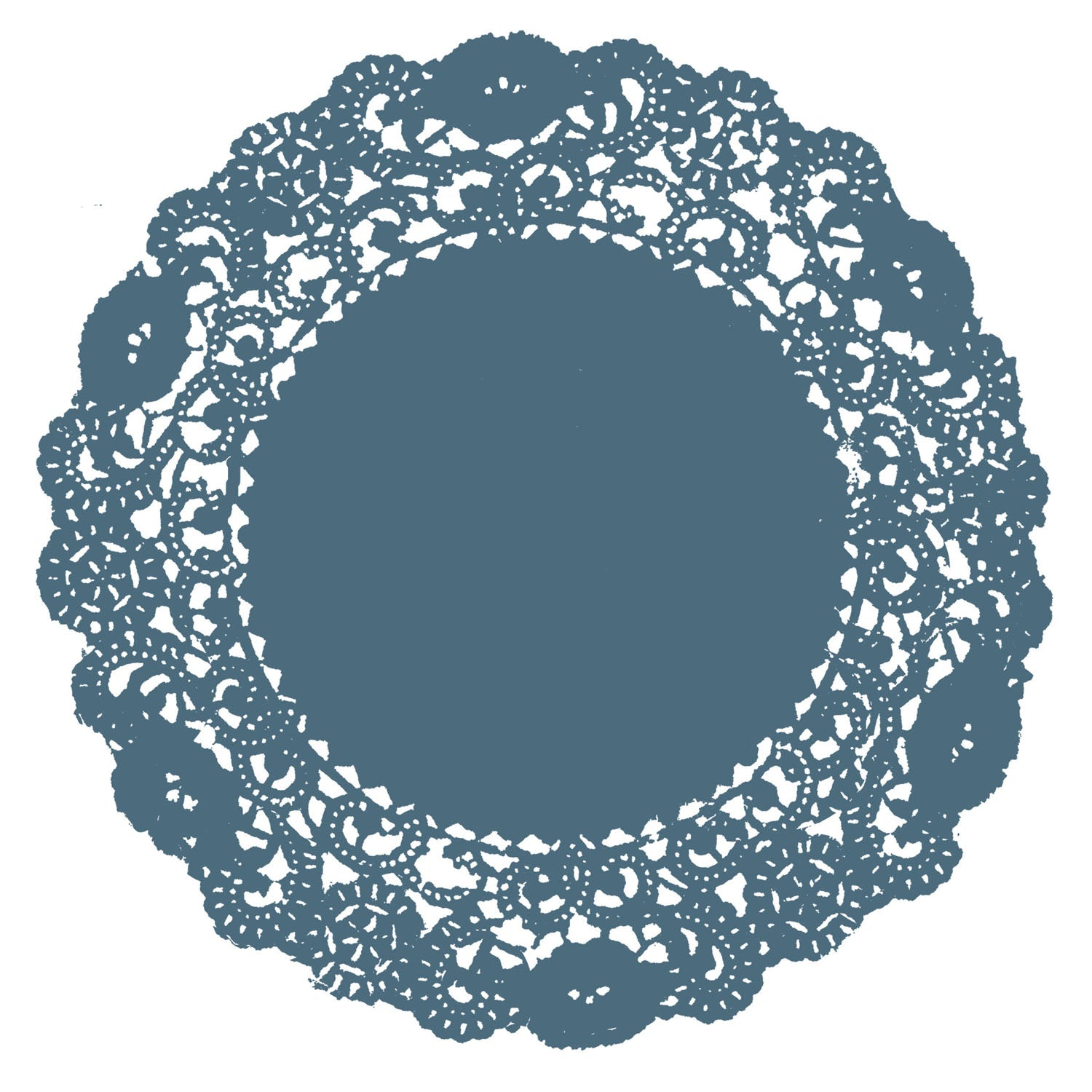 Twilight Blue Doily