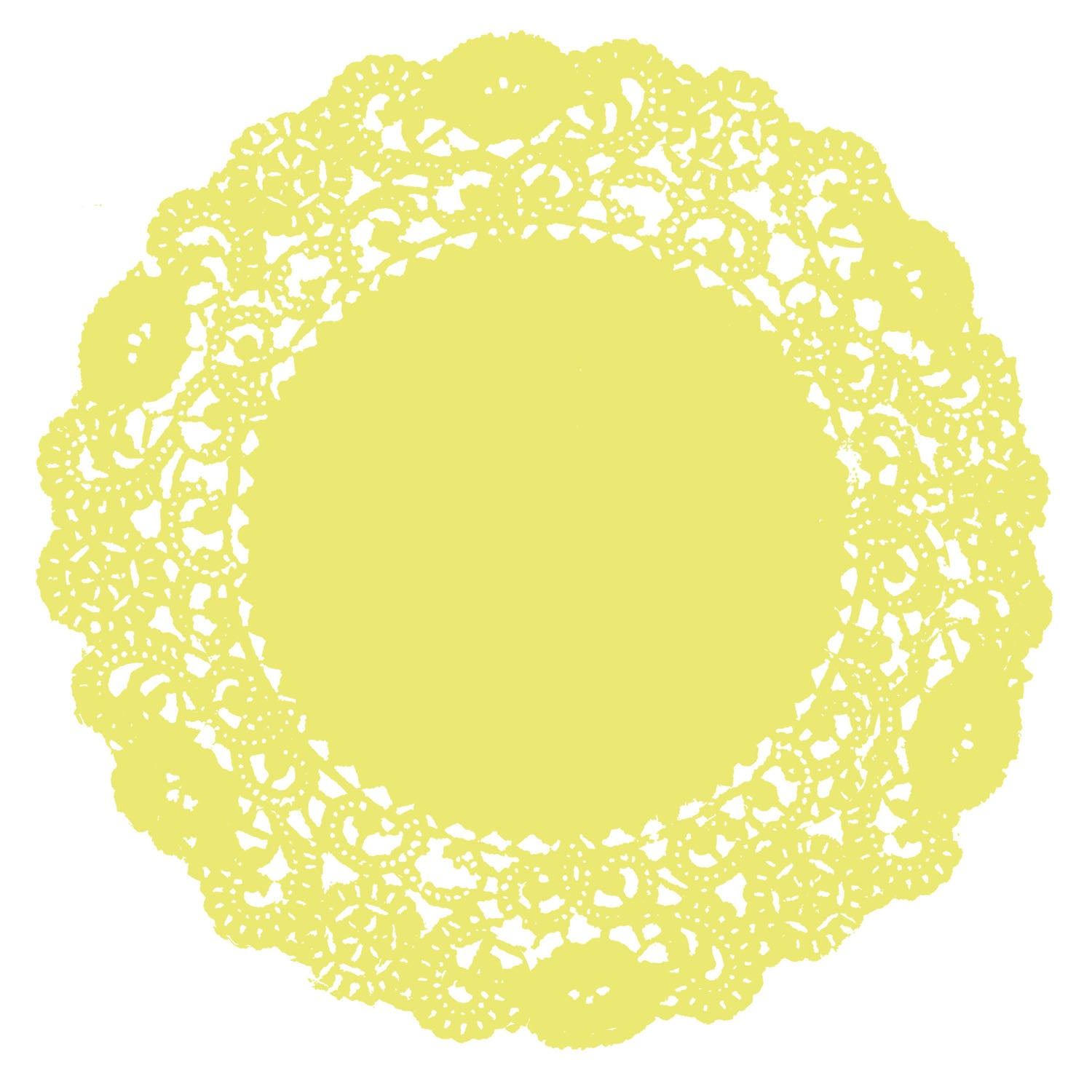 Citrus Yellow Doily
