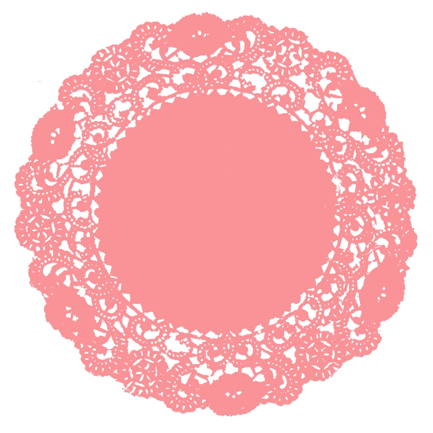 Coral Pink Doily