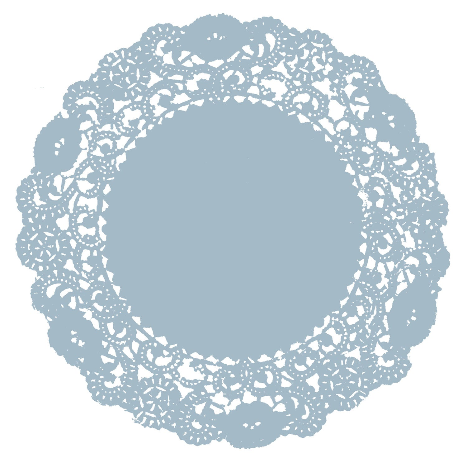 Dusty Blue Doily
