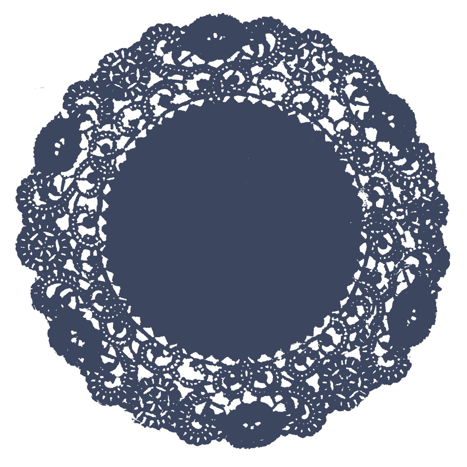Midnight Blue Doily