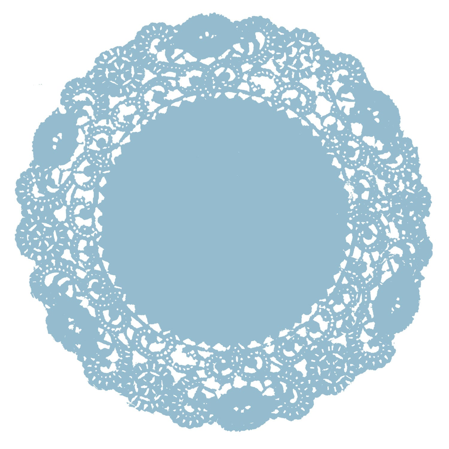 Boy Blue Doily