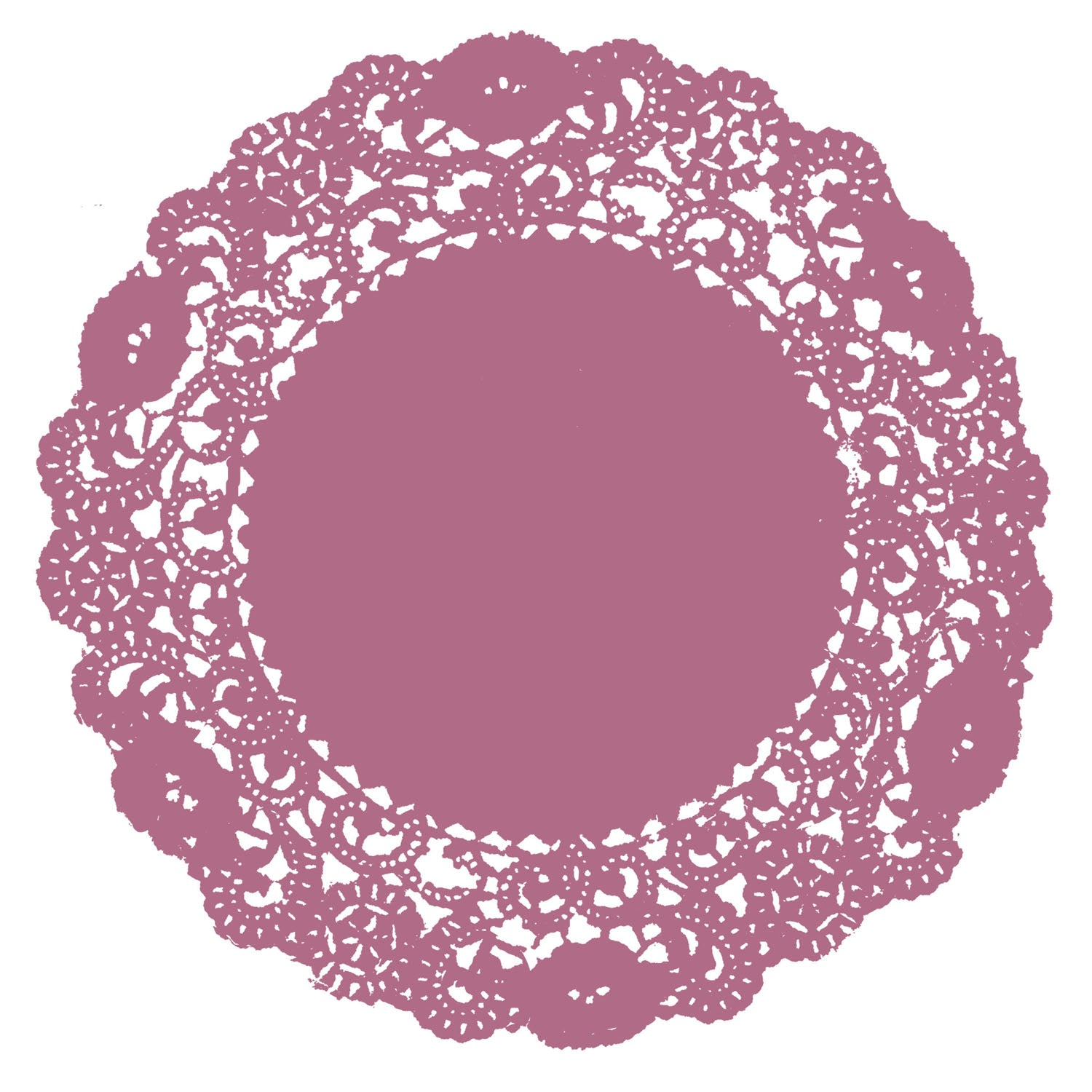 Cottage Rose Doily