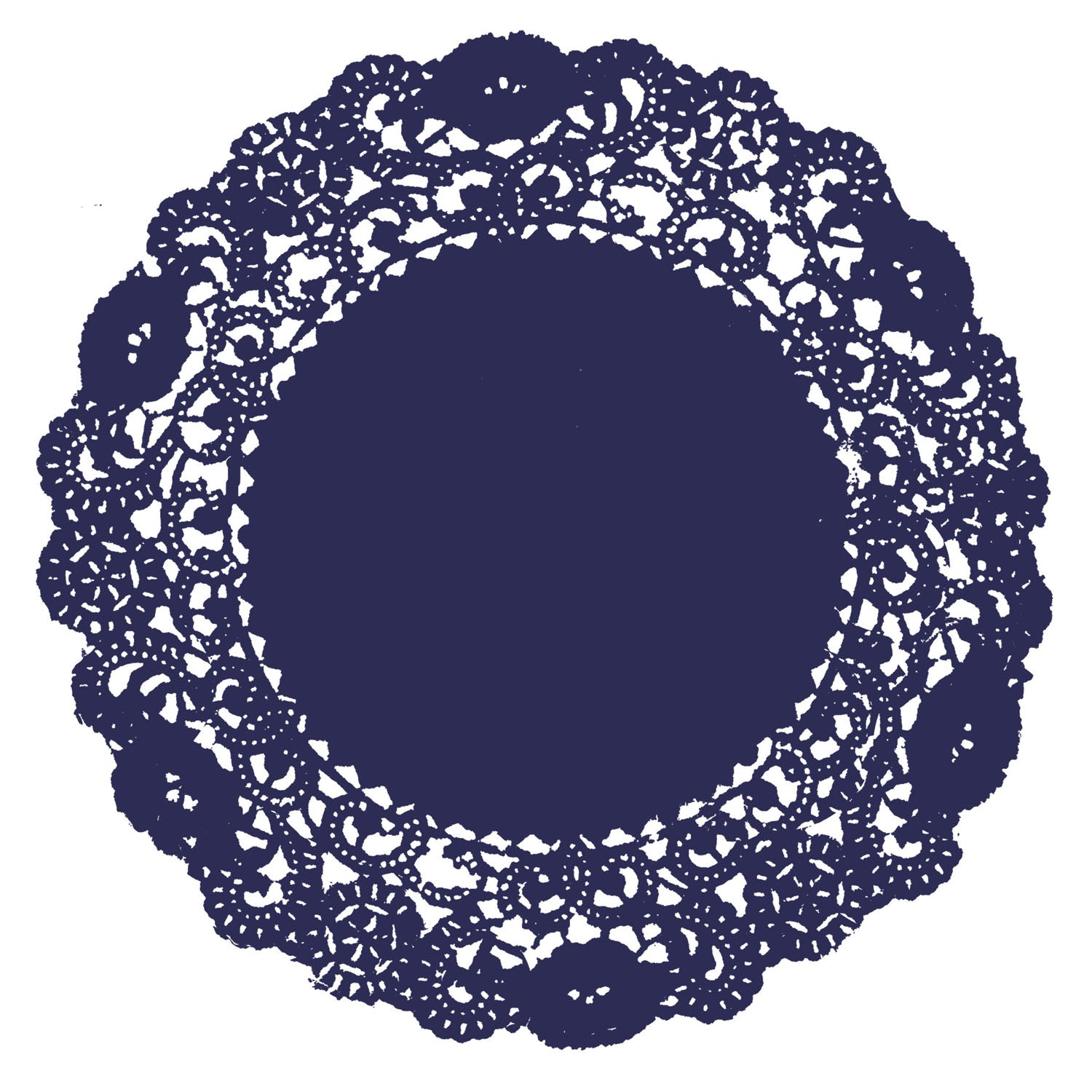 Navy Blue Doily