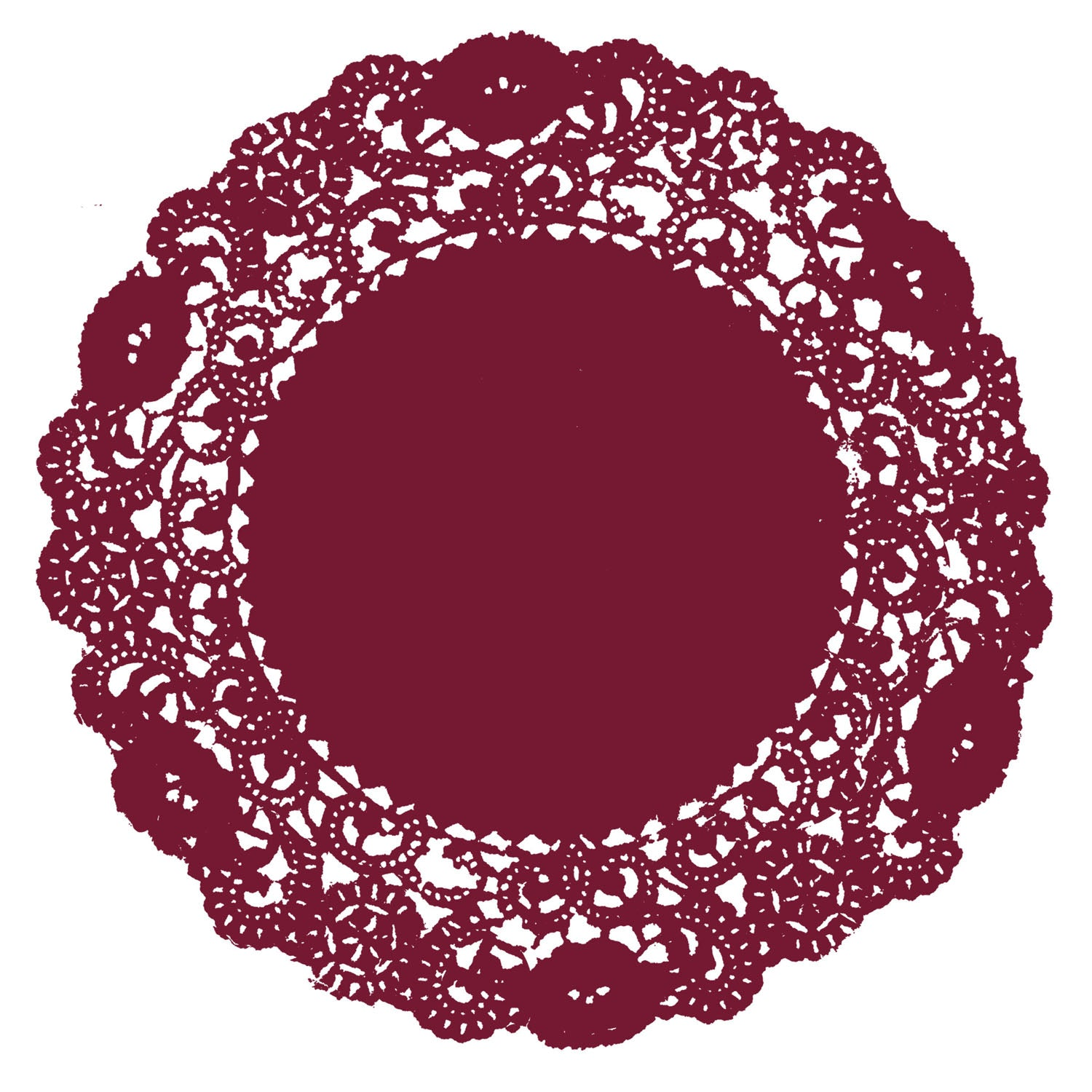 Vintage Red Doily
