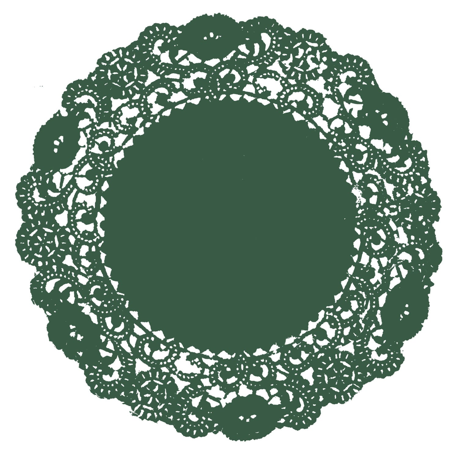 Pine Green Doily