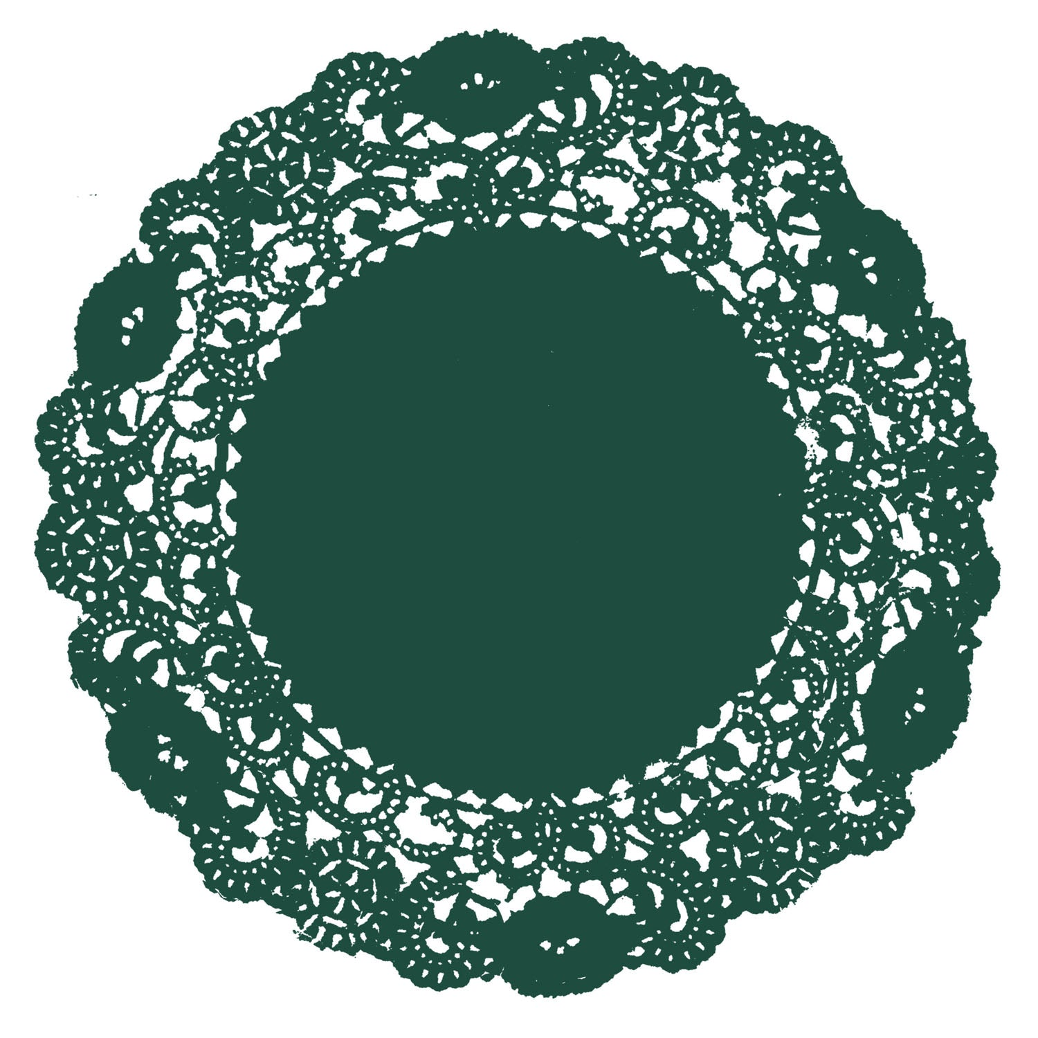 Forest Green Doily