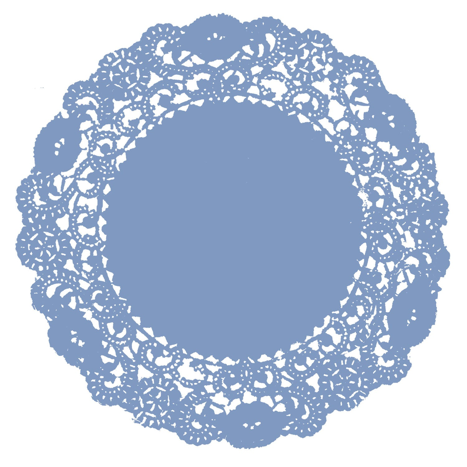 French Blue Doily