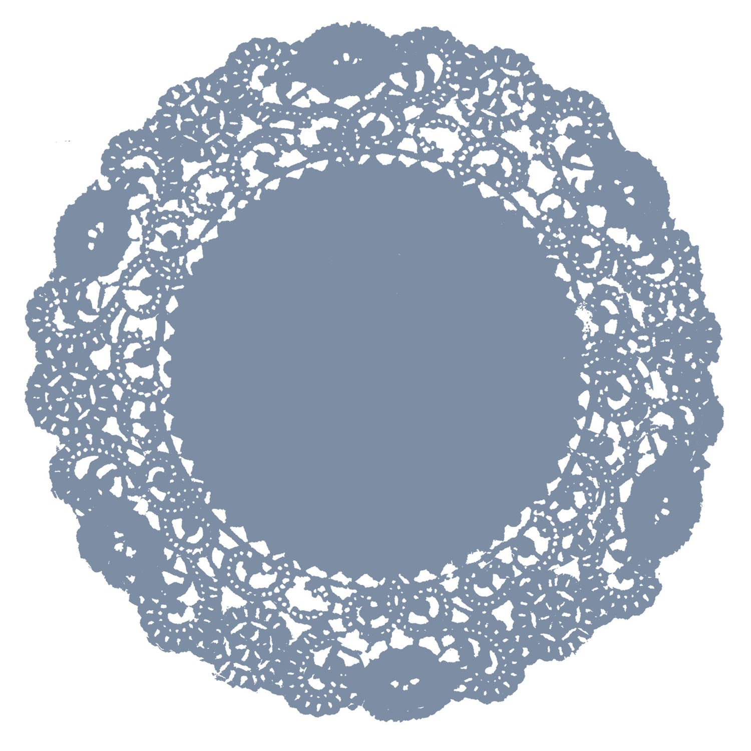 Steel Blue Doily