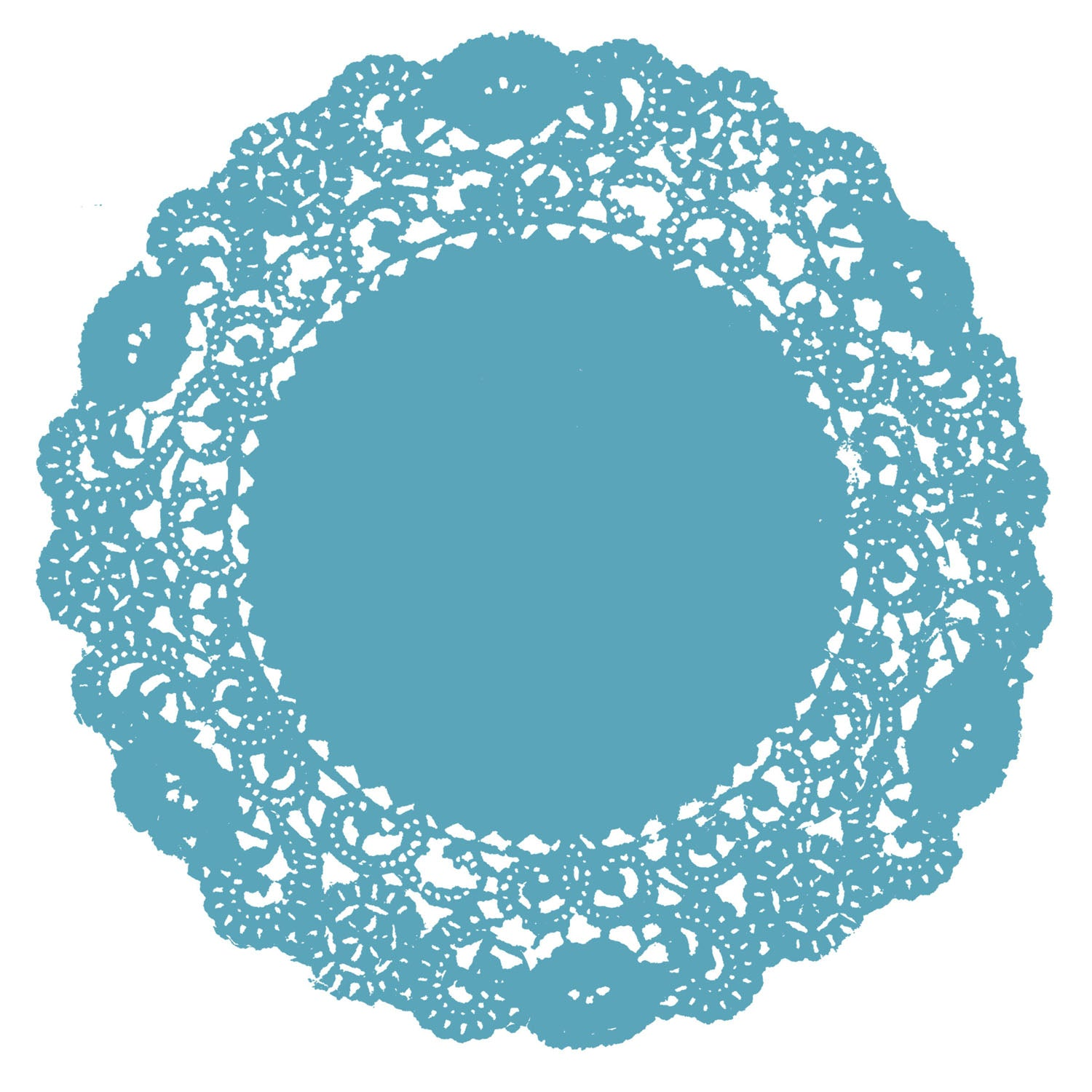Belle Blue Doily