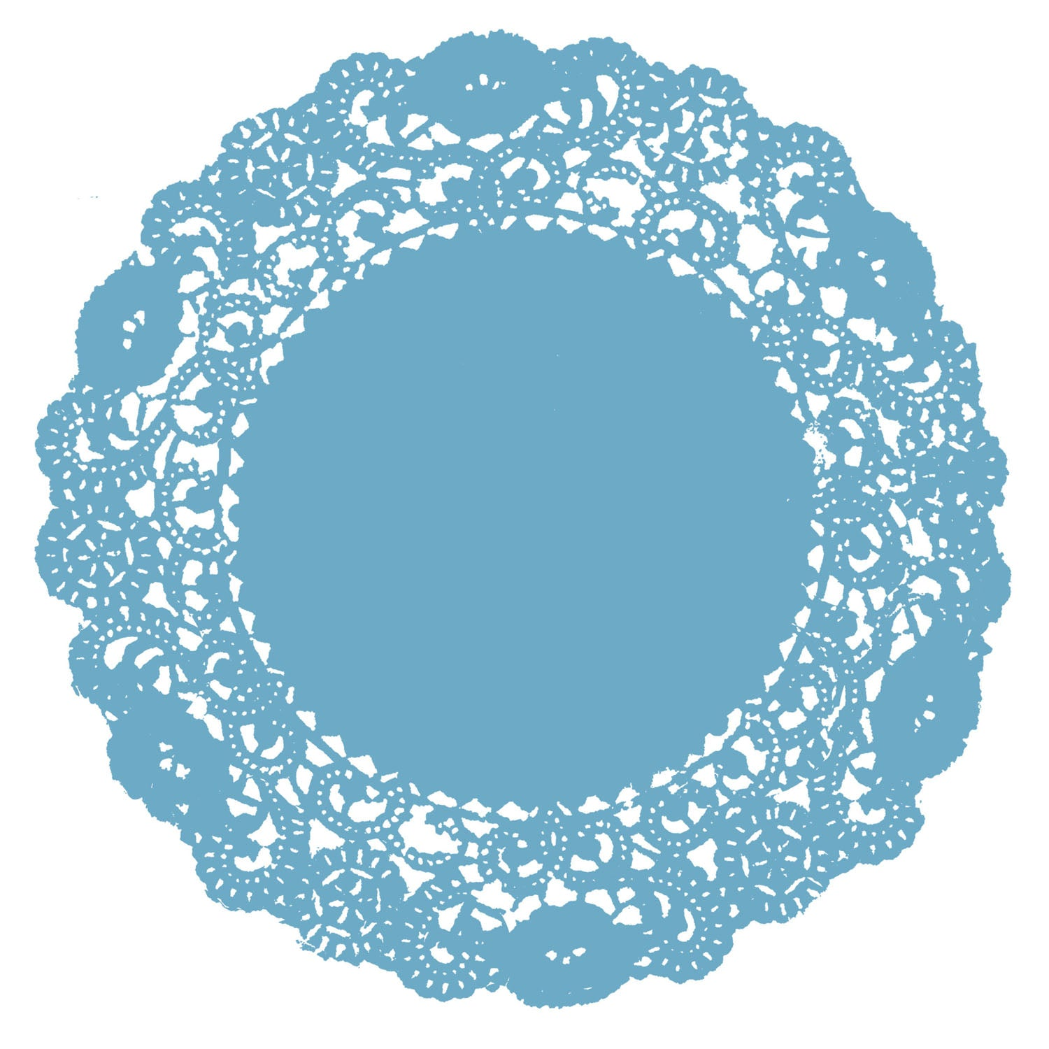 Pool Blue Doily