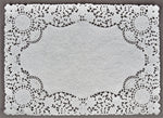 "RECTANGULAR White Doily Placemats || 10"" x 14"""