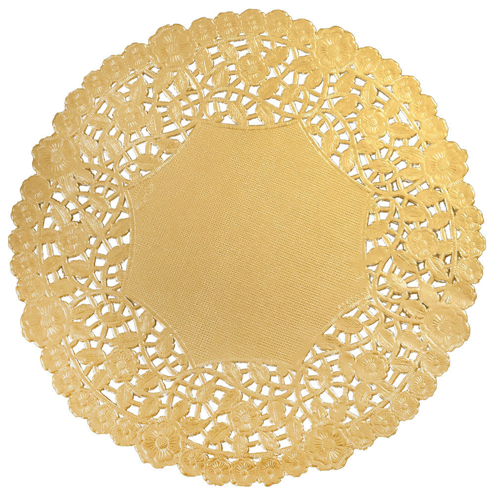 Budget gold paper doilies