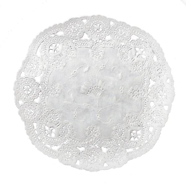 STORM GRAY French Lace Doilies