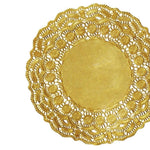 "9.5"" Gold Fancy Paper Doilies"