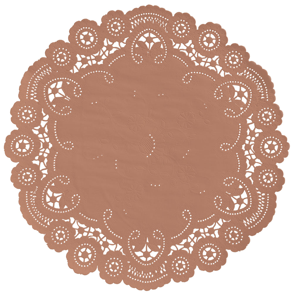 ACORN BROWN French Lace Doilies
