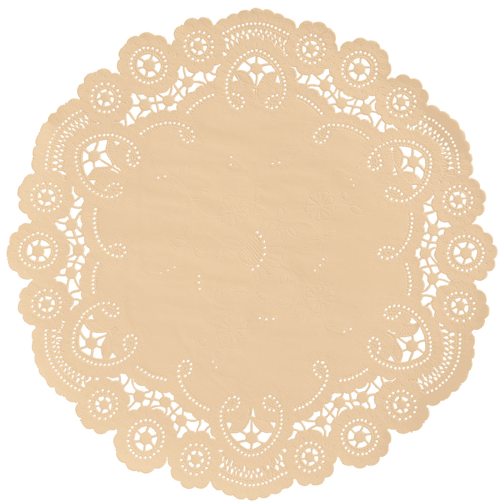 APRICOT CREAME French Lace Doilies