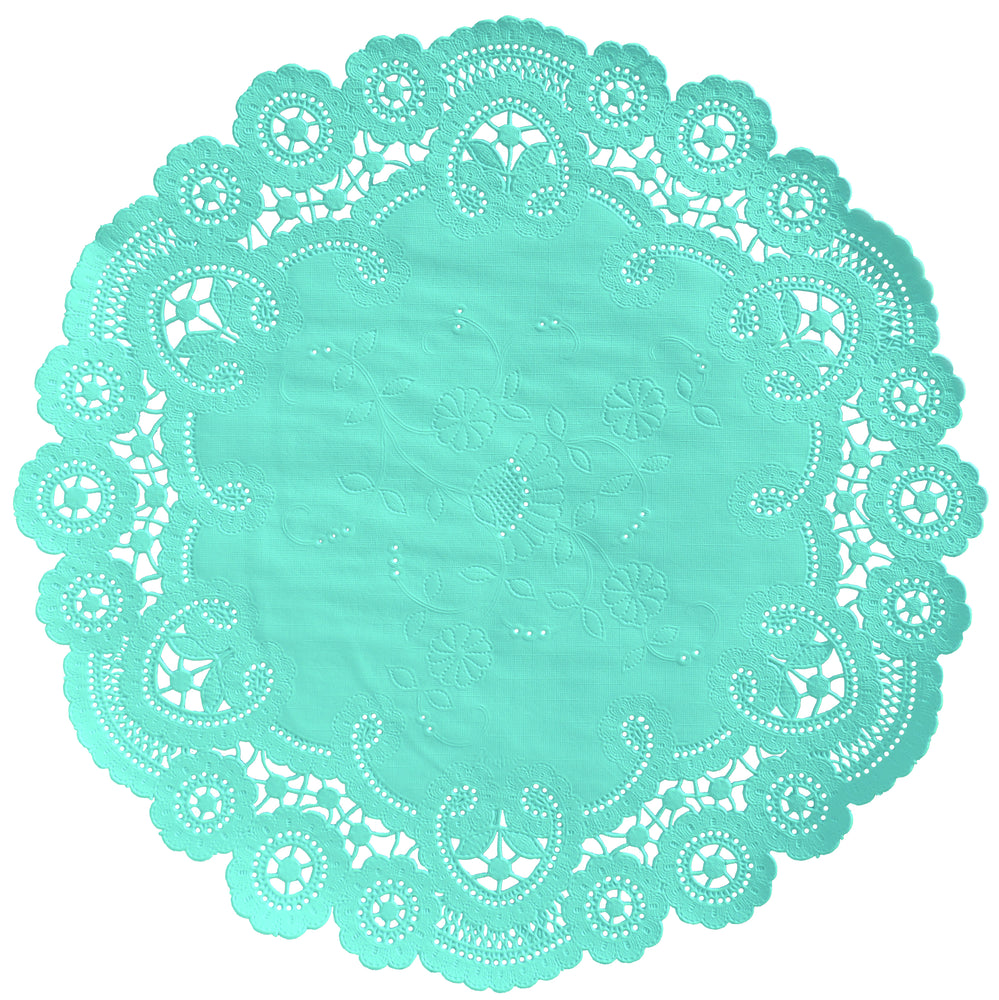 ARUBA BLUE French Lace Doilies