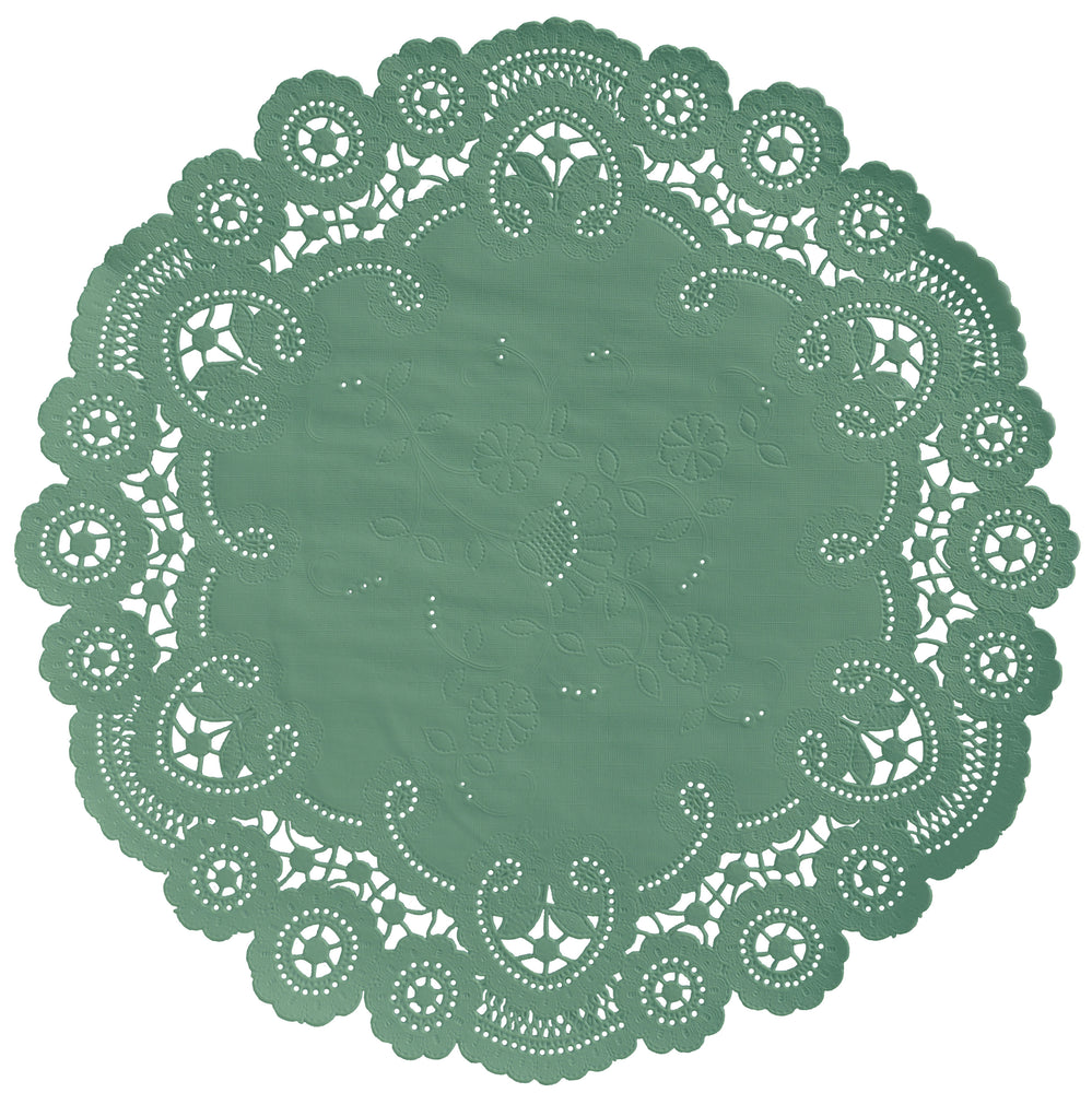 ASPEN GREEN French Lace Doilies