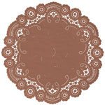 AUTUMN BROWN French Lace Doilies