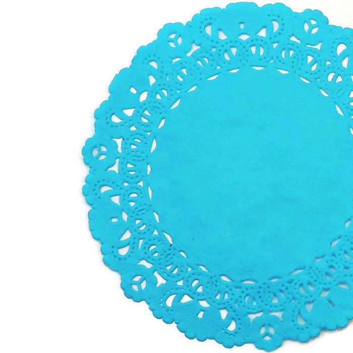 BAHAMA Blue Normandy Doilies
