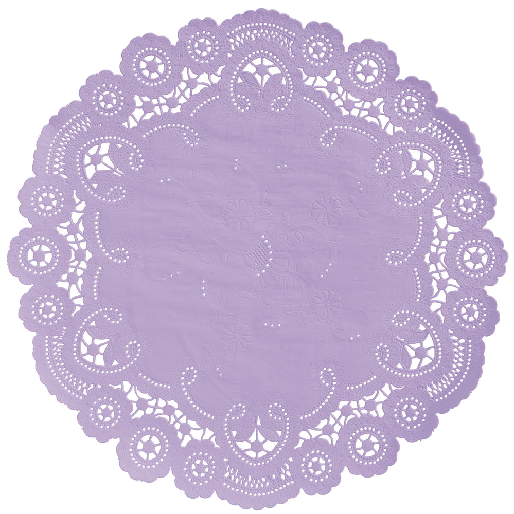 BASHFUL LILAC French Lace Doilies