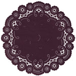 BERRY BURGUNDY French Lace Doilies