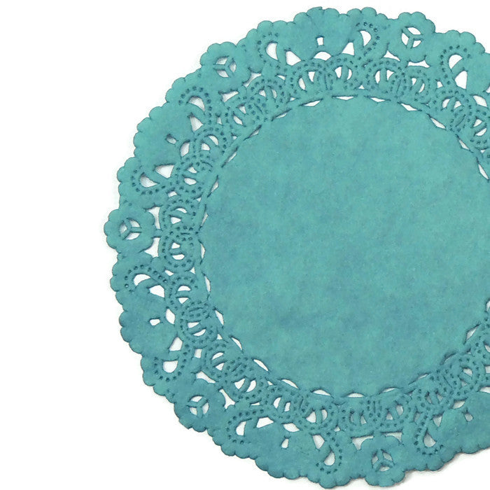 DUSTY TEAL Normandy Doilies