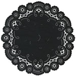 BLACK French Lace Doilies