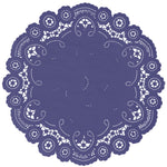 BLUE IRIS French Lace Doilies