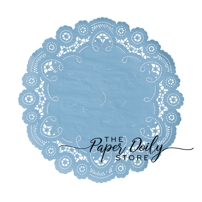 FADED DENIM BLUE French Lace Doilies