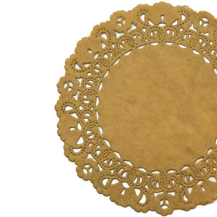 "BRONZE GOLD Round Paper Doilies | Normandy | Chargers, Placemats, Invitations | 4"", 5"", 6"" 8"", 10"", 12"", 14"", 16"""