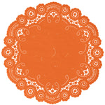 CANDY ORANGE French Lace Doilies