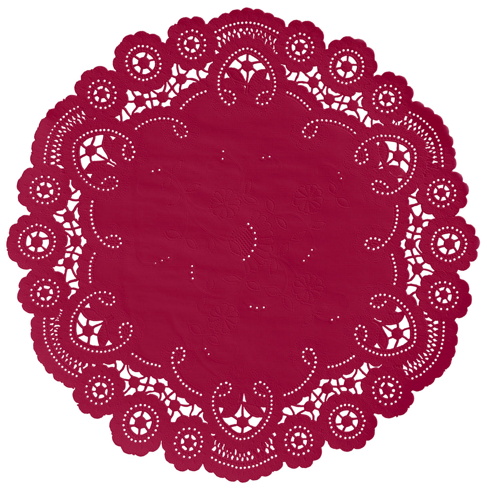 CARDINAL RED French Lace Doilies