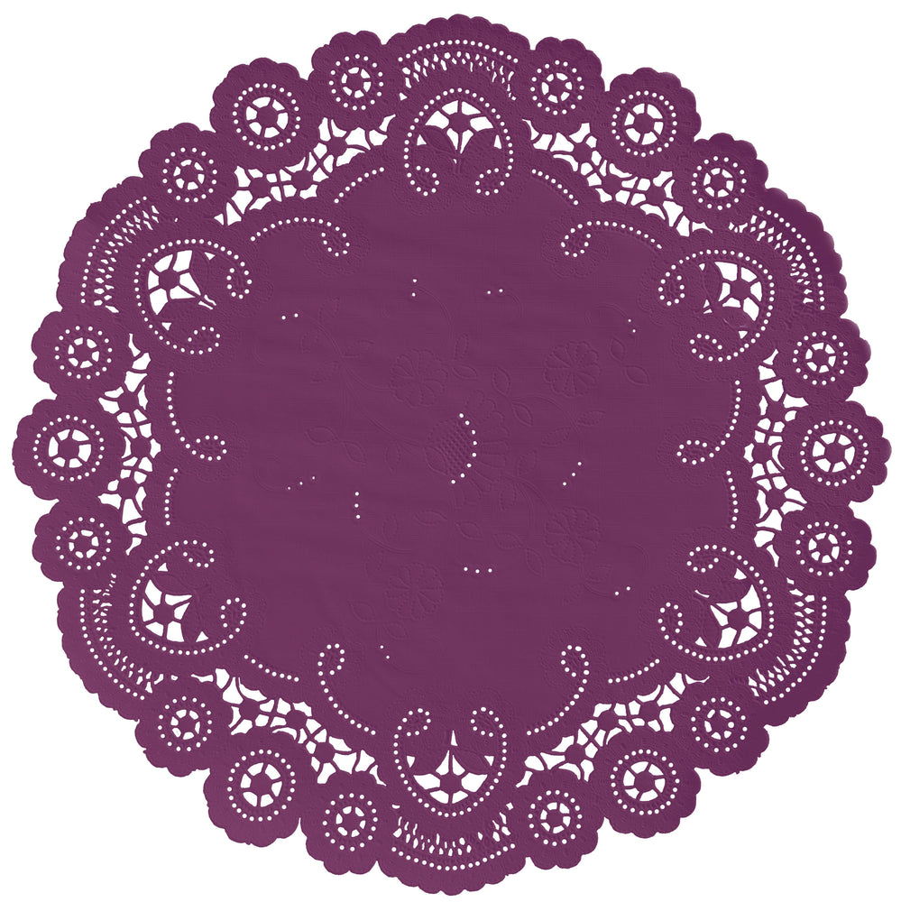 CASSIS PLUM French Lace Doilies