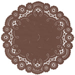 CHOCOLATE BROWN French Lace Doilies