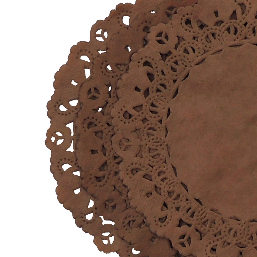 Chocolate Brown Normandy Doilies