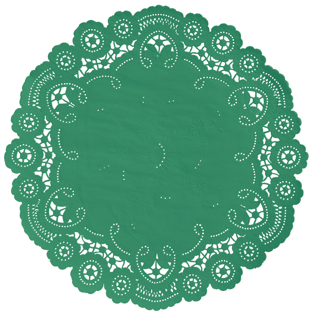CLOVER GREEN French Lace Doilies