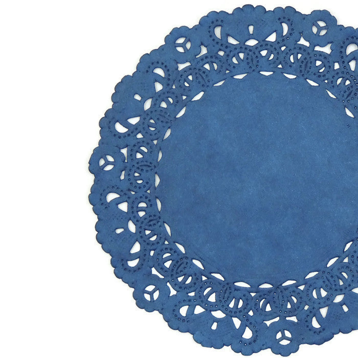 "COBALT BLUE Round Paper Doilies | Normandy | Blue Chargers, Placemats, Invitations | 4"", 5"", 6"" 8"", 10"", 12"", 14"", 16"""