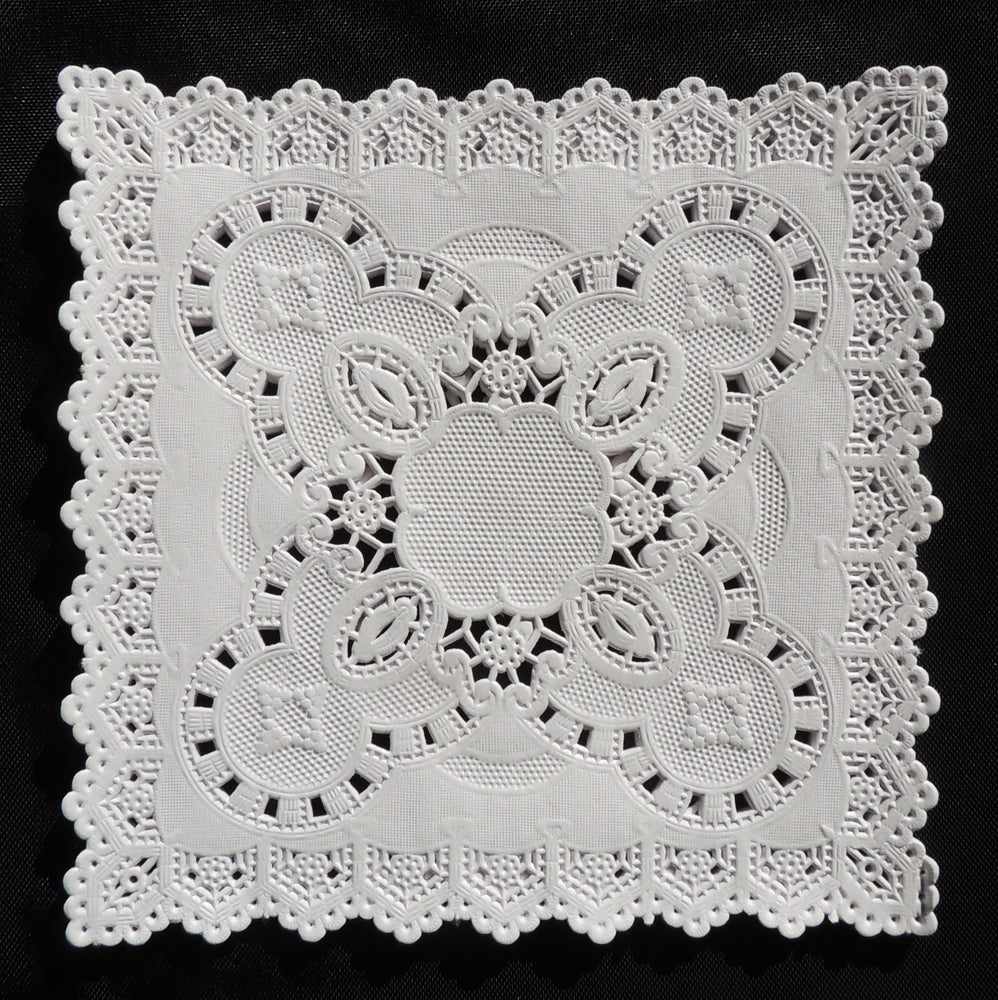 "5"" x 5"" SQUARE White Paper Doilies"