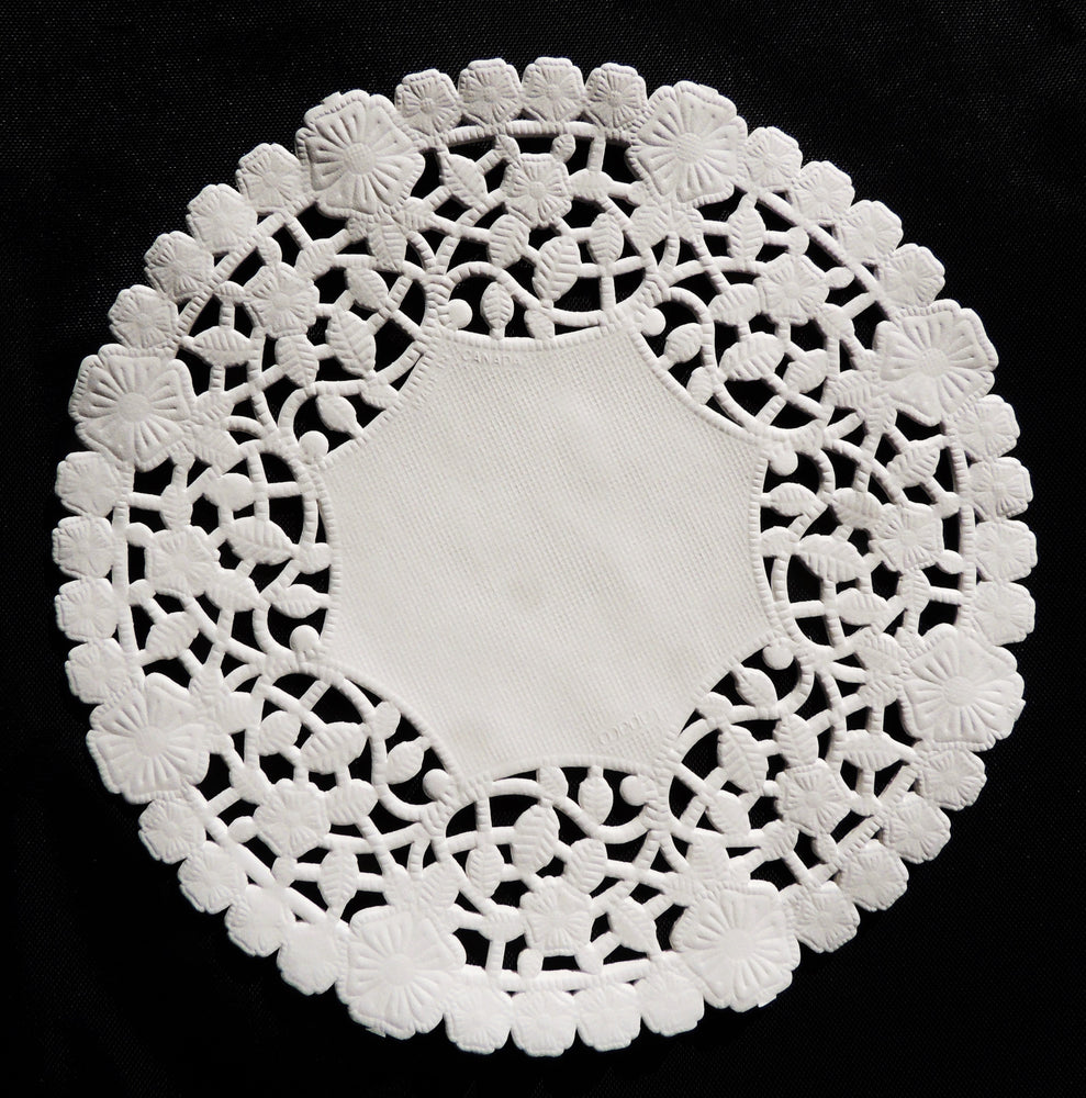"WHITE LANCASTER Flower Paper Lace Doilies || 4"", 6"", 8"", 10"", 12"" Round Sizes 