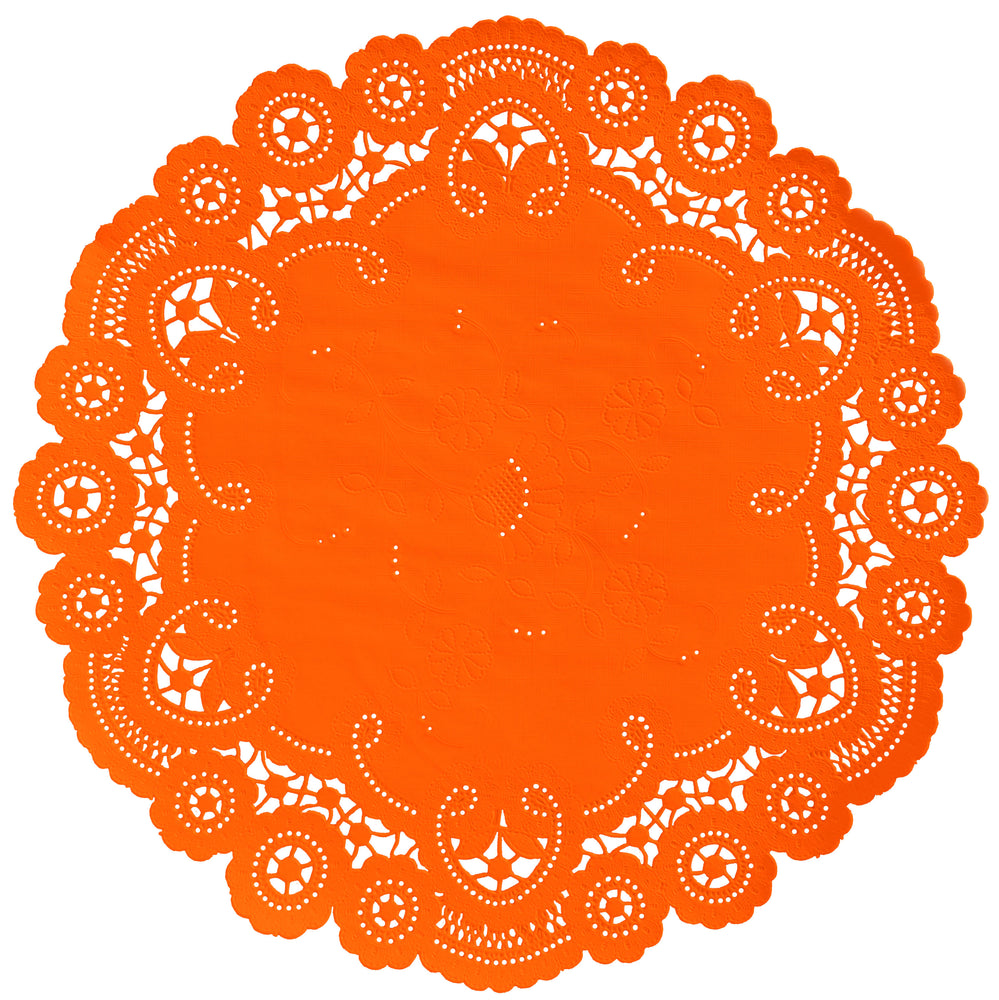 DARK ORANGE French Lace Doilies
