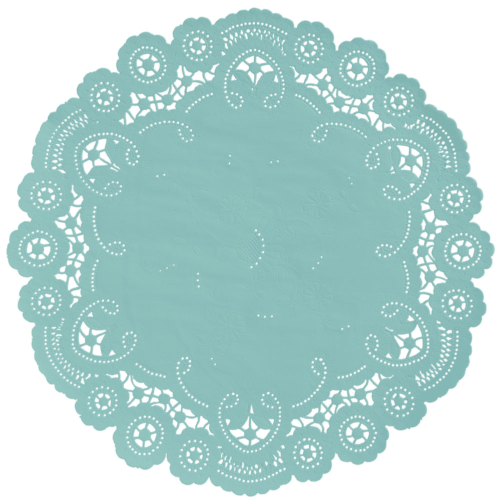 DUSTY AQUA French Lace Doilies