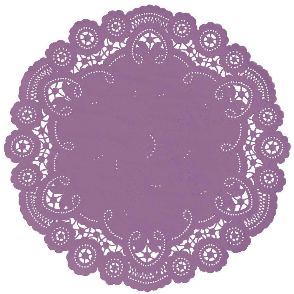DUSTY ORCHID French Lace Doilies