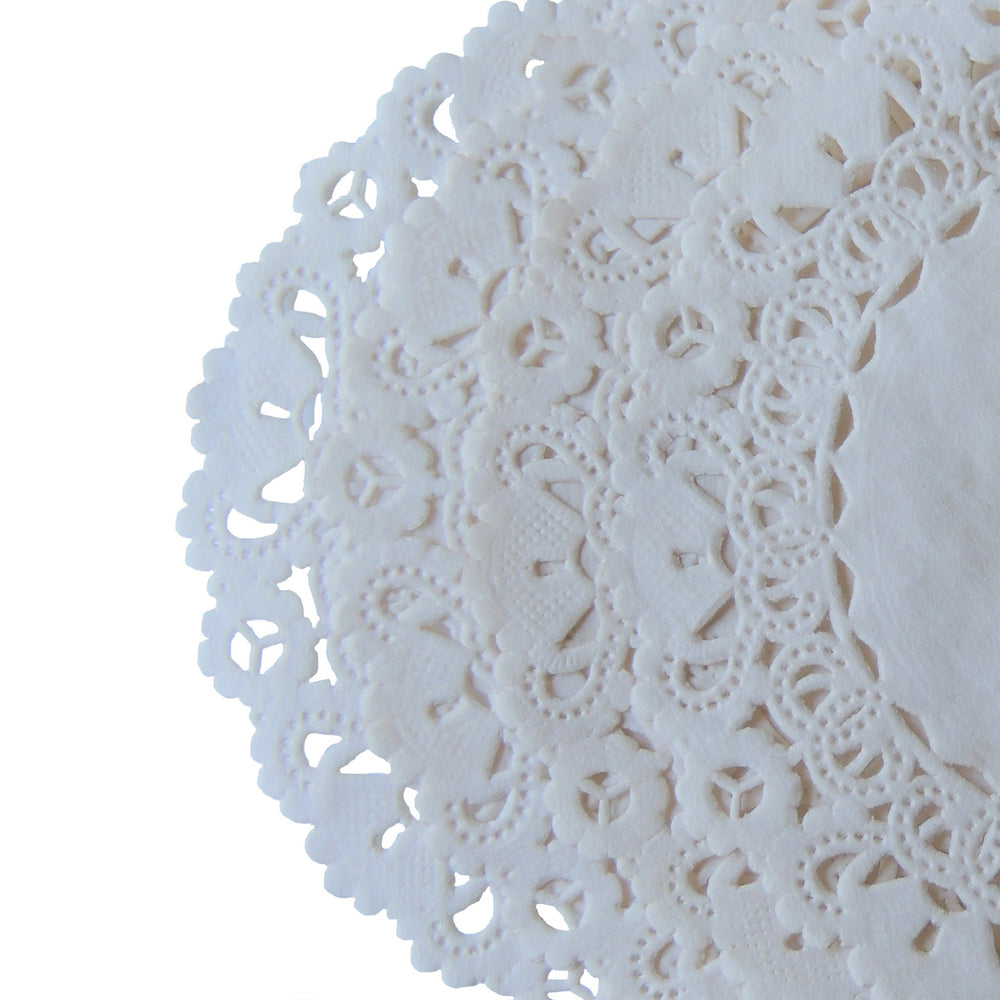 "ECRU Round Paper Doilies | Normandy | Chargers, Placemats, Invitations | 4"", 5"", 6"" 8"", 10"", 12"", 14"", 16"""