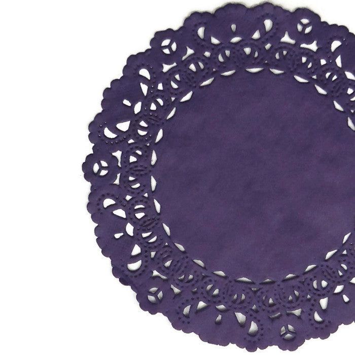 Eggplant Purple Normandy Doilies