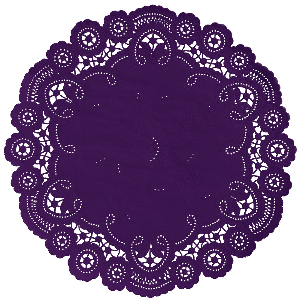 IMPERIAL PLUM French Lace Doilies