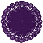 Eggplant french lace paper doilies